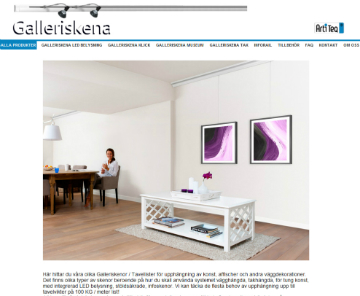 Galleriskena webshop